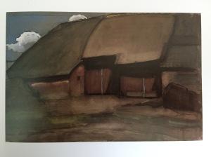 Mondriaan boerderij schilderij