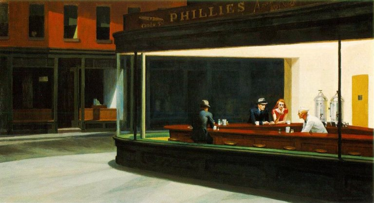 Foto Edward Hopper Nighthawks